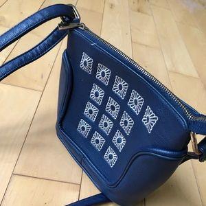 Blush Bags - BLUSH Navy Leather Purse Bag YYK zippier